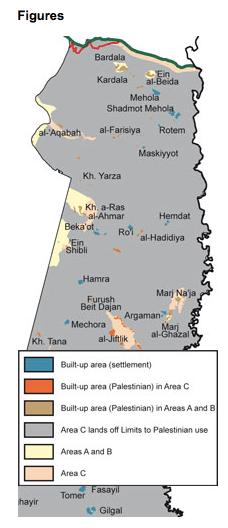 Źródło B'tselem: http://www.btselem.org/jordan_valley http://www.btselem.org/jordan_vall