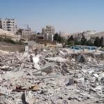 Zburzony dom w Az Zaayyem EJ